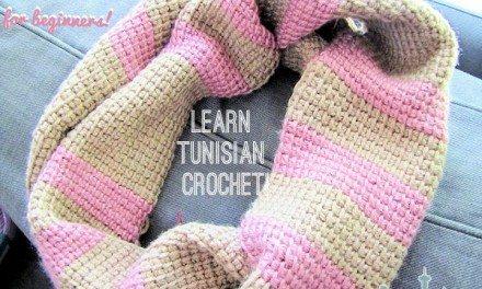 Tunisian Crochet Free Infinity Scarf Pattern