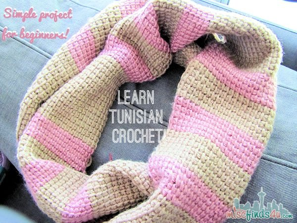 Free Crochet Patterns For Toddler Infinity Scarf : Tunisian Crochet Free Infinity Scarf Pattern - Baby to ...