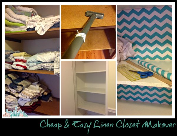 Linen Closet Makeover - Cheap and Easy