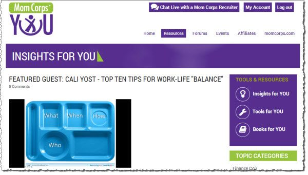 Mom Corps: Work and Life Coaching Online Community #Sponsored #MC