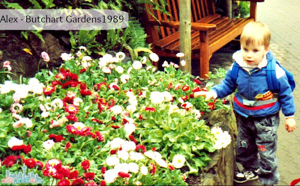 Instilling the love of gardening - Butchart Gardens 1989 - Teaching a love of gardening very early -  Gardening: Grow a Love of Nature #GroSomethingGreater