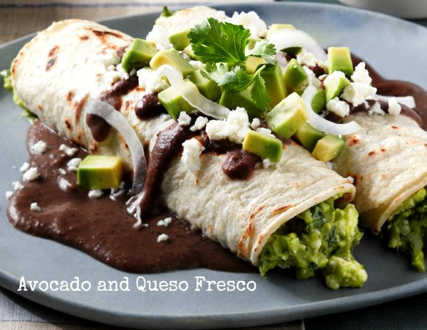 Enfrijoladas with Avocado and Queso Fresco Recipe