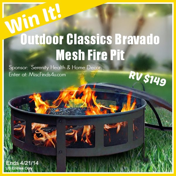 Summer Is Coming! Win a Outdoor Mesh Fire Pit #Giveaway @serenitydecor1