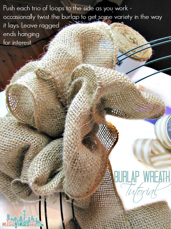Burlap Wreath Tutorial - Make Your Own Beach Decor