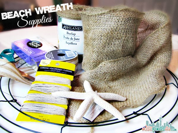 DIY Burlap Wreath Tutorial: Beach Theme - Supplies