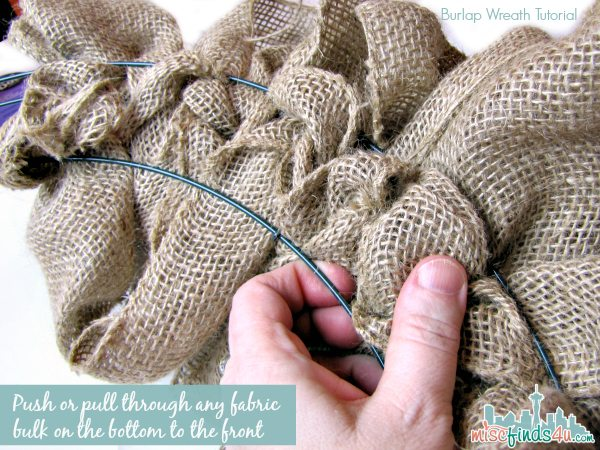 Burlap Wreath Tutorial - Wrapping Instructions