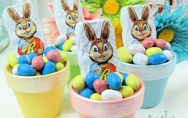 Easy Easter Crafts: Painted Pots – Easter Dessert Table