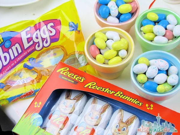 DIY Easter Treat Cups - candy supplies