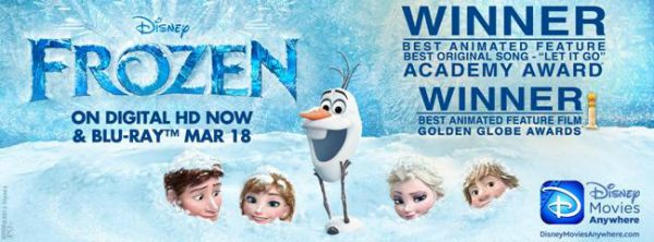 Disney Frozen Releases to Home Video 3-18 - ad
