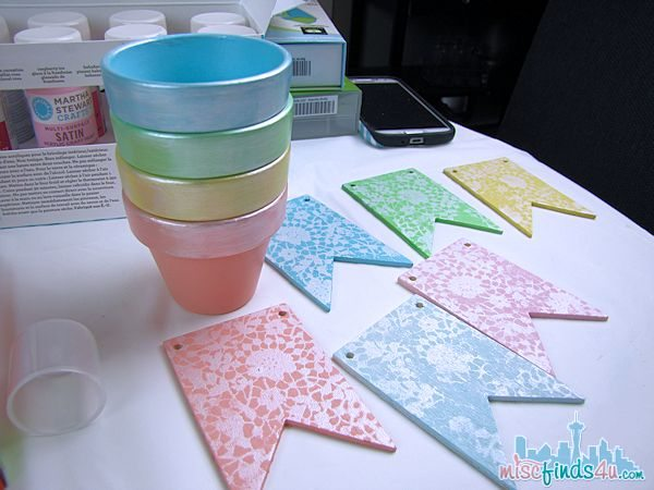 Easter Spring Crafts - Terra Cotta Pots and Banner