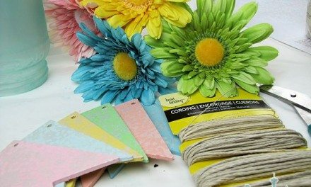 Easy Easter Crafts: Wooden Pennant Banner