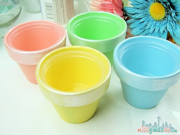 Easter Treat Cups - Painted Terracota pots