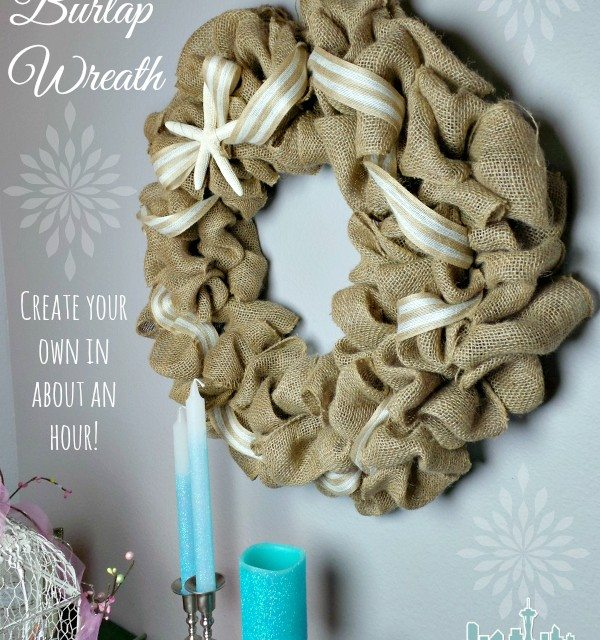 DIY Burlap Wreath Tutorial: Beach Theme