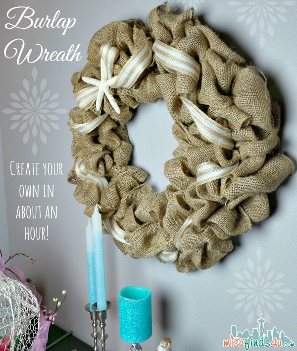 Easy DIY Burlap Wreath Tutorial