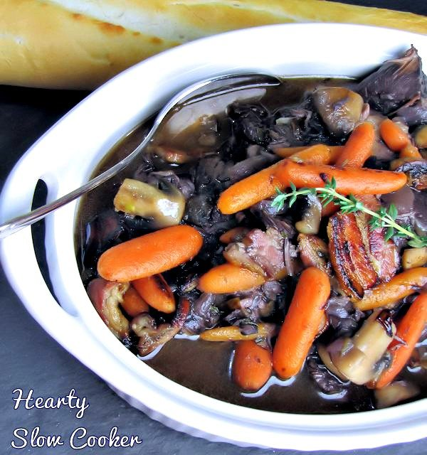 Hearty Slow Cooker Beef Burgundy and Vegetables