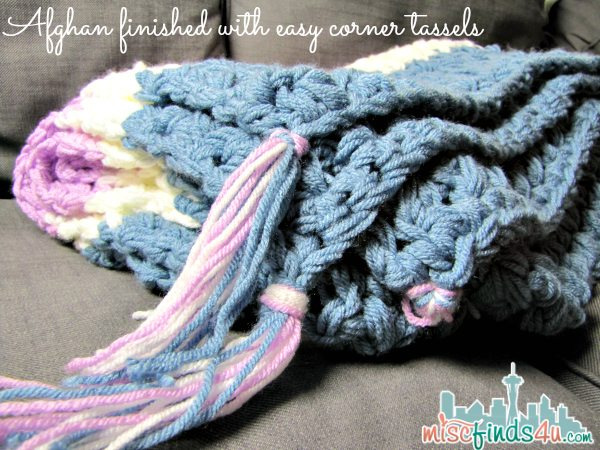 Free Crochet Patterns: Easy Weekend Afghan - Tassels