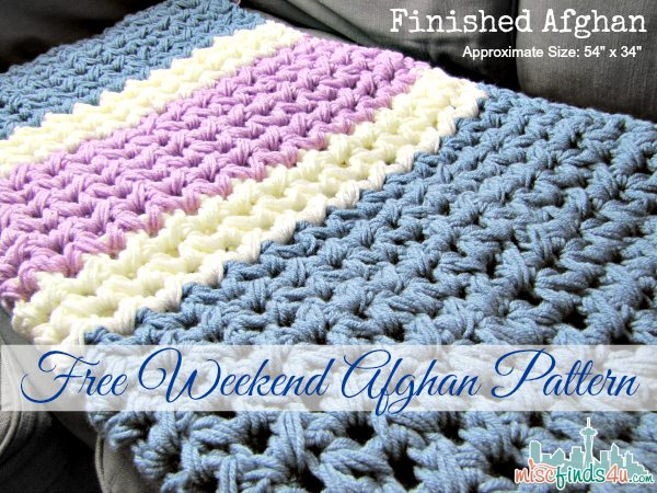 Easy Weekend Crochet Afghan Free Pattern Baby To Boomer Lifestyle