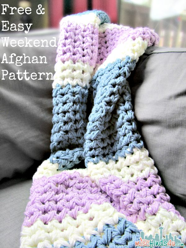 Crochet Afghan Patterns N Hook : Easy Weekend Afghan Free Crochet Pattern