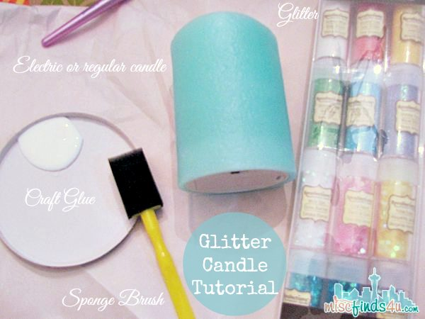 Glitter Candle DIY - Electric Candles Tutorial Supplies