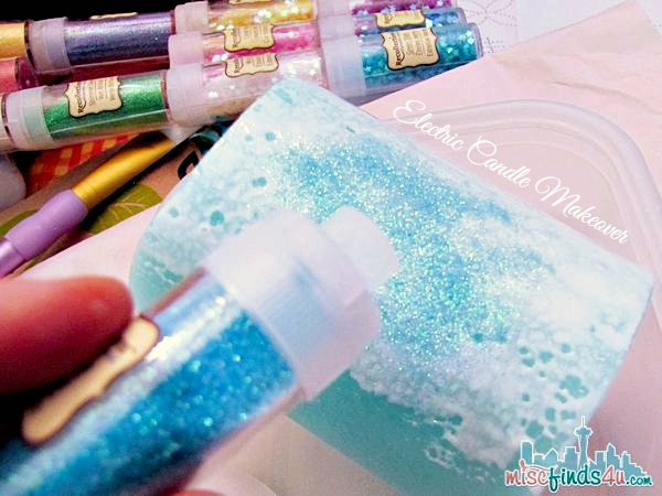 Glitter Candle DIY - Embellish Electric Candles Tutorial