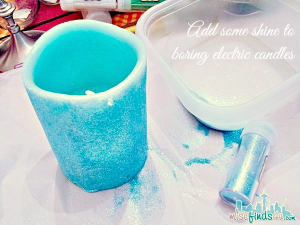 Glitter Candle DIY