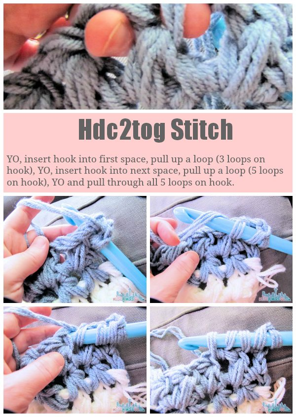 ... crochet pattern half double crochet two together pattern hdc2tog