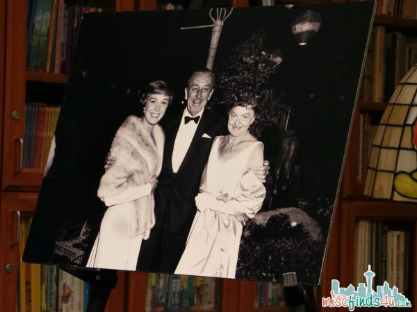 Julie Andrews, Walt Disney, and PL Travers at the Mary Poppins Premier - photo displayed at the Walt Disney Archives -ad #piratefairybloggers