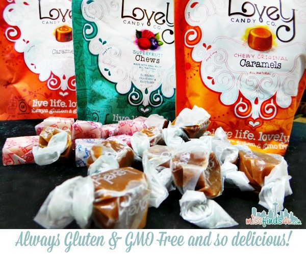 Lovely Candy Co candies - Caramels and Chews - Always Gluten and GMO-Free ! ad