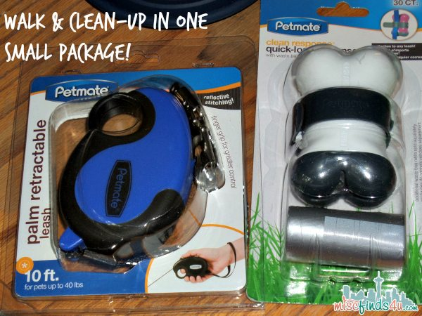 Petmate Retractable Leash and Poop Bags - ad