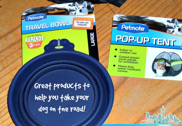 Petmate Travel Bowl and Pop-Up Tent