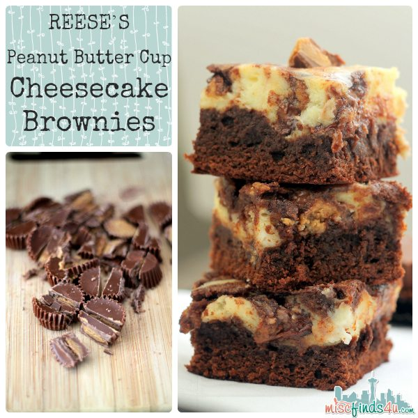 REESE'S Peanut Butter Cup Cheesecake Brownies Recipe