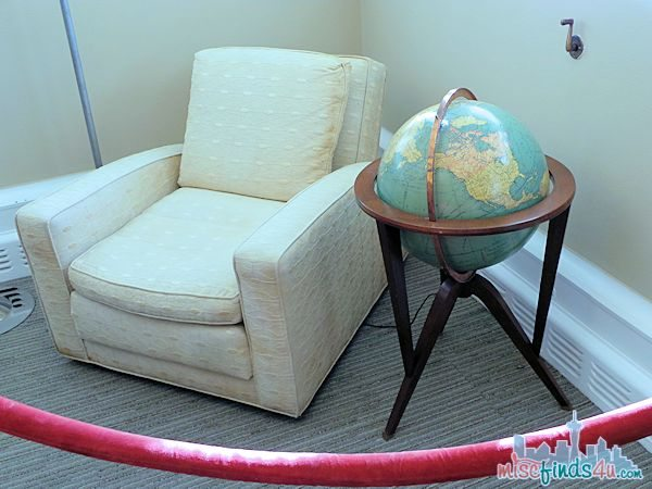 Saving Mr Banks Walking Tour - Walts Original Chair and Globe  #piratefairybloggers ad