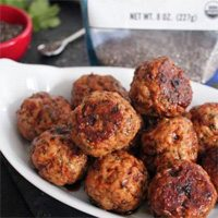 Spicy Ginger Soy Meatballs by Domesticate Me