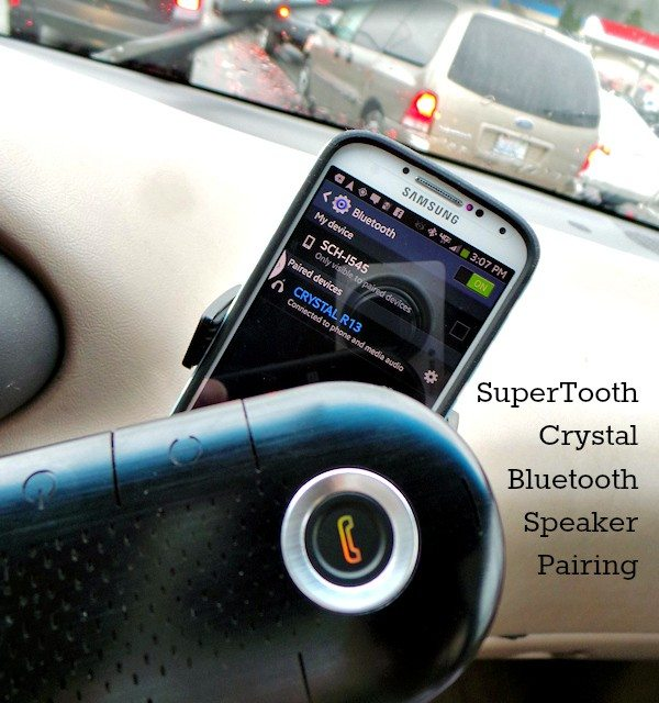 SuperTooth Crystal Bluetooth – Hands-free Car Speaker
