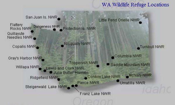 Washington Wildlife Refuge Locations