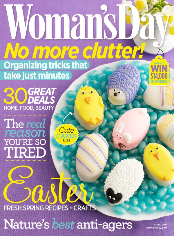 Womans Day April 14 Cover - Easter Cakes