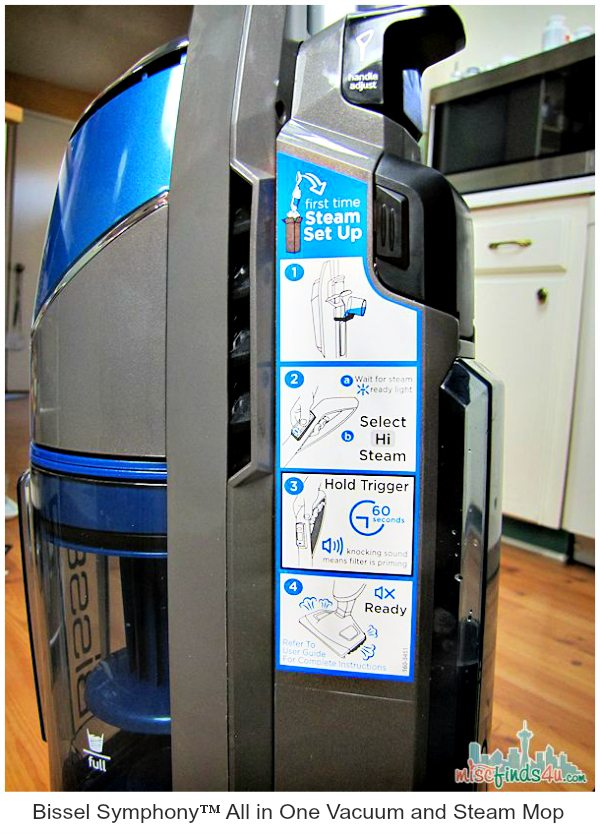 Bissel Symphony Steam and Vac - Steamer Settings  @BestBuy @BISSELLclean #BissellatBestBuy  ad