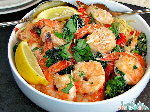 Dinner Ideas – Easy Garlic Shrimp and Broccoli Pasta