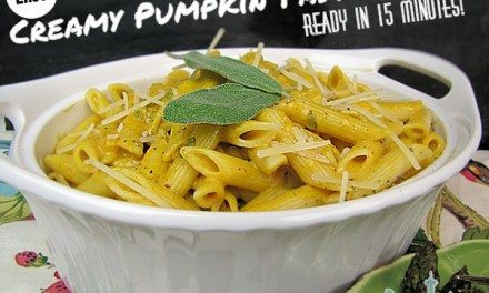 Recipes for Pumpkin – Creamy Pasta Sauce