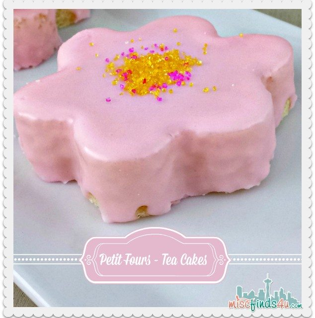 Homemade Pound Cake Petit Fours – Easy Daisy Tea Cakes For a Holiday or Any Day!