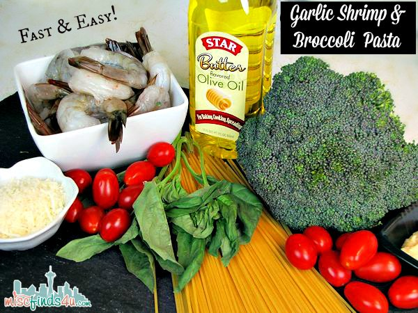 Quick Dinner Ideas- Easy Garlic Shrimp and Broccoli Pasta Ingredients #CollectiveBias #shop