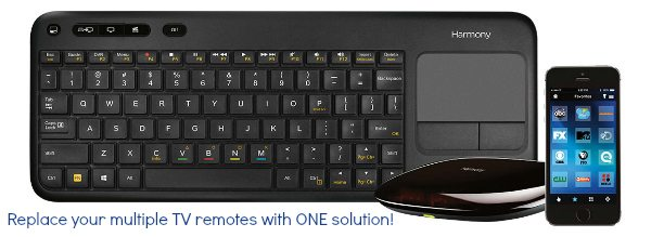 Logitech Harmony Smart Keyboard replaces all your remotes! Logitech Smart Keyboard Best Buy Exclusive @Logitech @BestBuy #HarmonySmartKeyboard sponsored