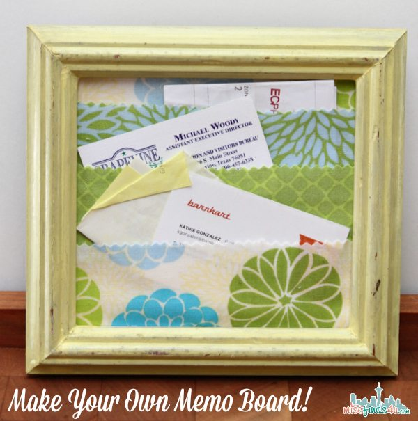 Easy DIY Mother's Day Gift: Fabric Memo Board