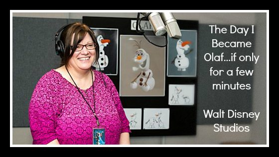 Recording the Voice of Olaf in FROZEN
