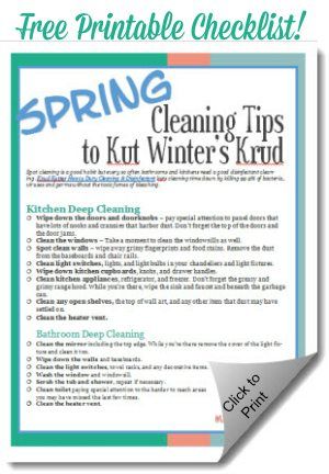 Spring Cleaning Tips Kitchen and Bath free printable