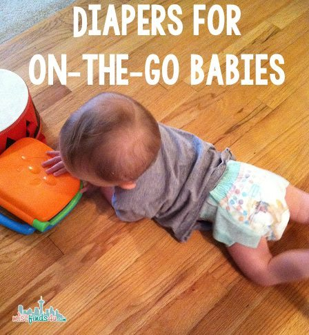 Snug slip-on diapers for your standing baby