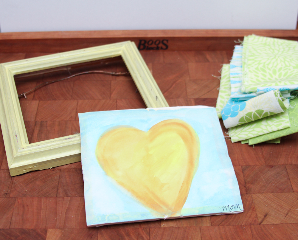 Memo Board Craft - Recycled Frame Step 1
