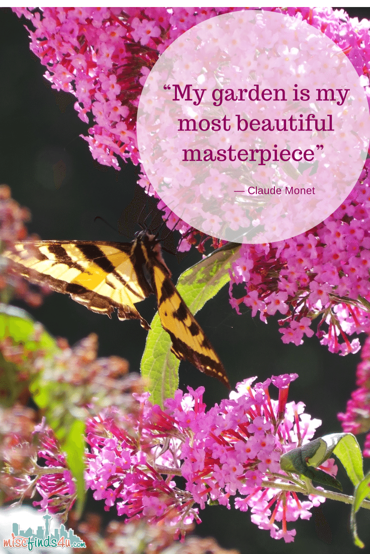 quote - Garden Monet Masterpiece