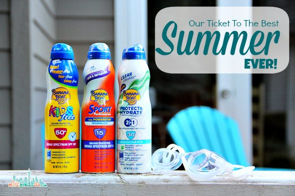Banana Boat and The Best Summer Ever Sweepstakes #BBBestSummer #MC