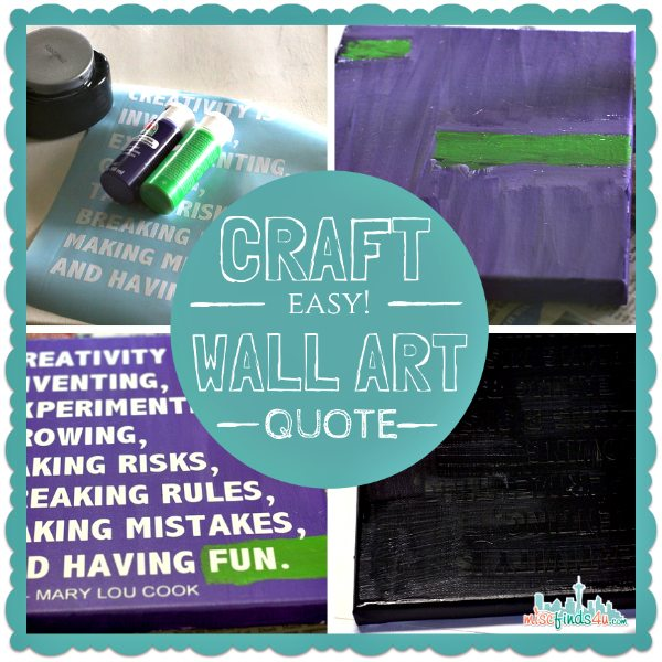 Easy Wall Art Quote Craft - crafting ideas and diy